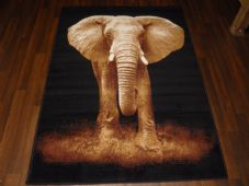 Modern Approx 6x4 120cmx170cm Woven Elephant Rugs Sale Top Quality Beiges New